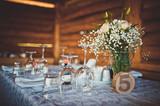 Formal dinner service at a wedding banquet