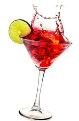 Splashing Cocktail on white background