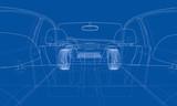 Concept car. 3d rendering