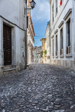 Old Narrow Street in Portuguese Town of Coimbra