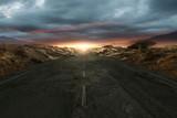 Einsame Straße durch die Wüste