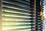 Wooden blinds decoration in living room  - 198344687