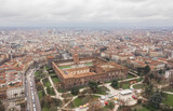 Aerial view of Sforzesco Castle in Milan
