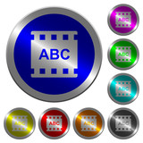 Movie subtitle luminous coin-like round color buttons