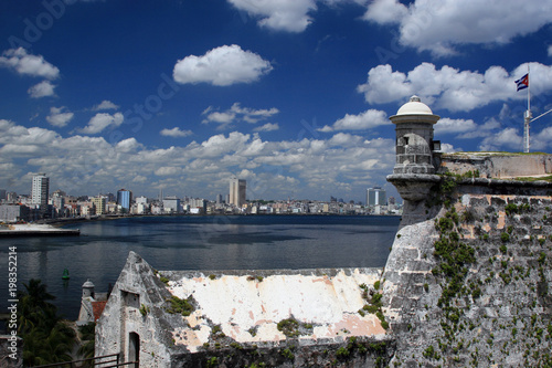 Foto op Canvas Havana View of Havana, from Fortaleza de San Carlos de la Cabaña, Cuba