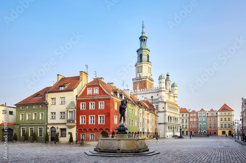 Market Square in the Poznan Old Town, Poland. - 198355635