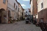 calcata medieval village on the rock
