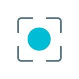 camera caption flat vector icon