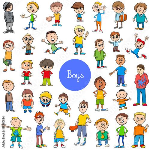 cartoon kid boys characters big set - 198360884