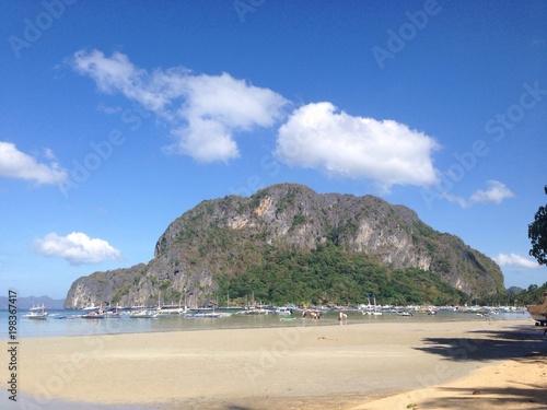 panoramic view of beach near El Nido, Philippines