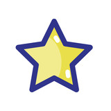 shiny star in the sky design icon