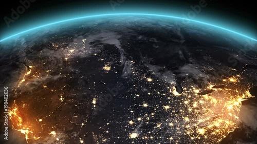Earth Night North America