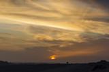 Sunset in gobi, Xinjiang of China - 198410469