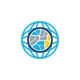 Map Globe Logo Icon Design