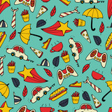 Cute seamless pattern with hand-drawn men illustrations.