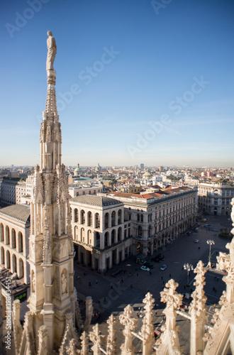 Fotobehang Milan Milan, Italy panorama. View from Milan Cathedral Duomo.