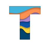 Colorful letter T
