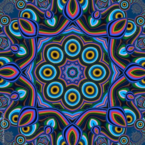 Colorful abstract mandala background. You can use it for invitations, notebook covers, phone case, postcards, cards, ceramics, carpets and so on. Artwork for creative design, art and entertainment.