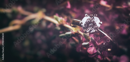 Diamond Ring. Wedding Background - 198440630
