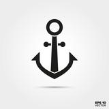 Anchor vector icon. Sailing, yachting and seafaring symbol.