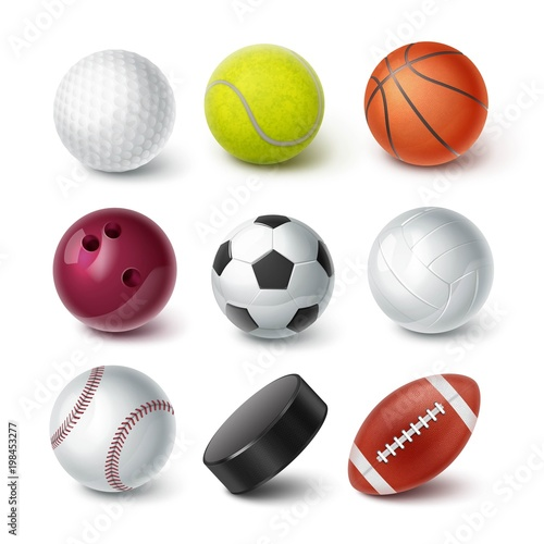 Fotobehang Bol Set of balls