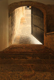 Stone staircase in Columbus Alcazar, Santo Domingo - 198457625