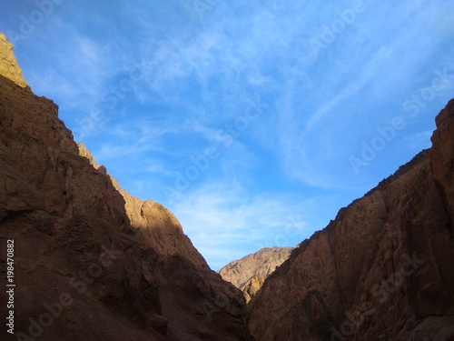 Mountain canyons of granite Poster