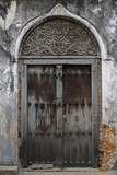 Old wooden door at Stone Town - 198471677