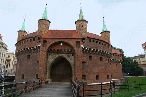 Foto op Plexiglas Krakau Krakow Barbican medieval outpost, Poland