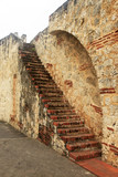 Ancient brick staircase in Santo Domingo