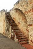 Ancient brick staircase in Santo Domingo
