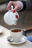 White tea teapot - 198474060