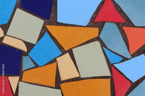Kolorowe mozaiki podłogowe płytki wzór tła