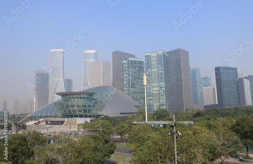Jiangjin raod business district cityscape Hangzhou China