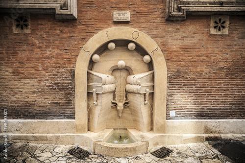Fontana dei Libri in Rome, Italy
