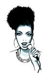 Afro-american jazz singer Jazz - 198500207