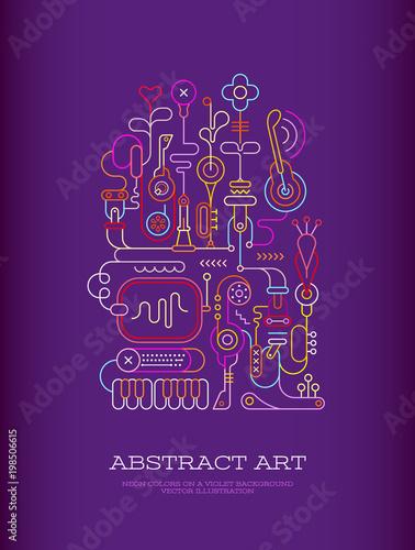 Plexiglas Abstractie Art Abstract Art vector illustration
