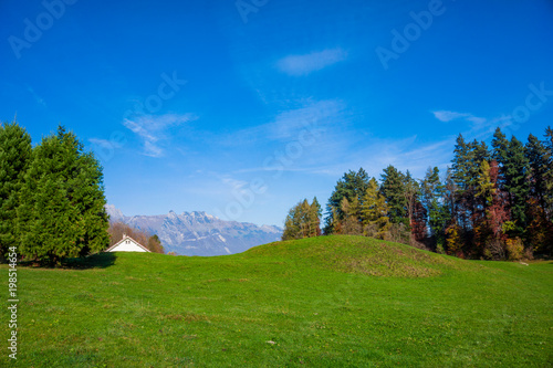Foto op Canvas Herfst Beautiful landscape in the Swiss Alps