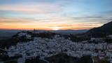 Casares Village at sunset