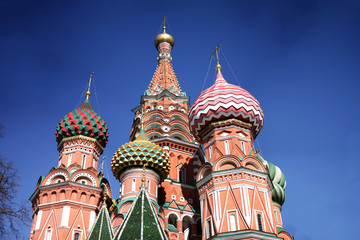Front view of St. Basil's Cathedral, Moscow