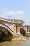Blackfriars Railway Bridge on the river Thames, London, United Kingdom.