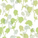 Clover flower graphic color seamless pattern sketch background illustration vector - 198563812