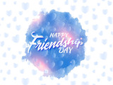 creative abstarct, banner or poster for Friendship Day or Best Friend Forever with nice and creative design illustration in a background.