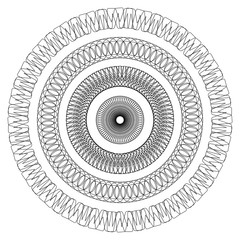 Geometrical circles coloring page
