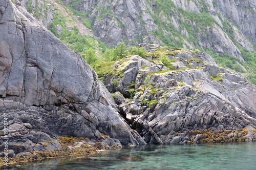 Fotobehang Lavendel Henningsvær