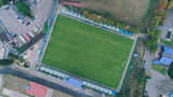 Kiev. Ukraine. July 27, 2017. The Bannikov Stadium. Football field. Aerial view.