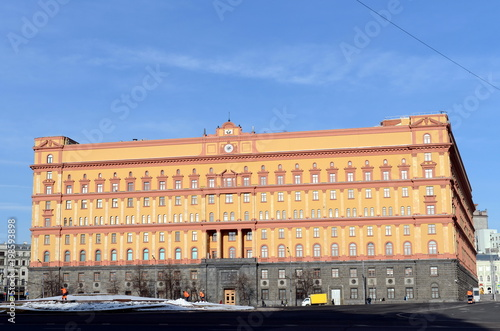 Foto op Aluminium Moskou The building of the FSB of Russia on the Lubyanka Square in Moscow.