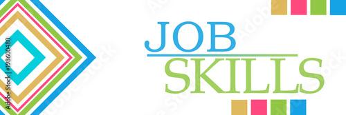 Job Skills Colorful Borders Squares Horizontal