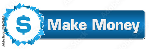 Make Money Blue Random Shapes Circle Bar
