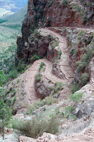 Fotobehang Khaki Grand Canyon Bright Angel Trail
